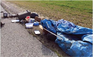 Roadside rubbish