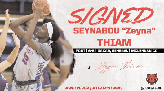 Red Wolves Sign 6-6 Post Player Seynabou Thiam